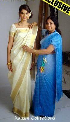 Sparkling Fashion: Want to drape saree like a celebrity!! Saree draping styles