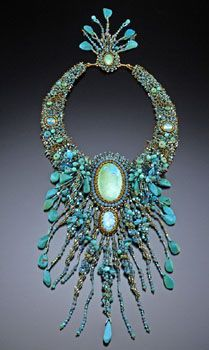 Sherry Serafini, turquoises and opals...: Accessories Jewelry, S Jewelry Turquoise, Beaded Necklaces, Serafinibeadedjewelry Com, Color, Earth Opals Jewelry, Jewels Necklaces, Sherry Serafini Necklace, Designing Jewelry