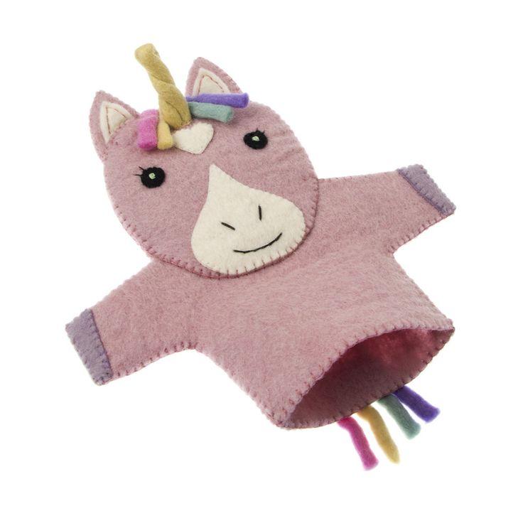 Felt Unicorn Hand Puppet