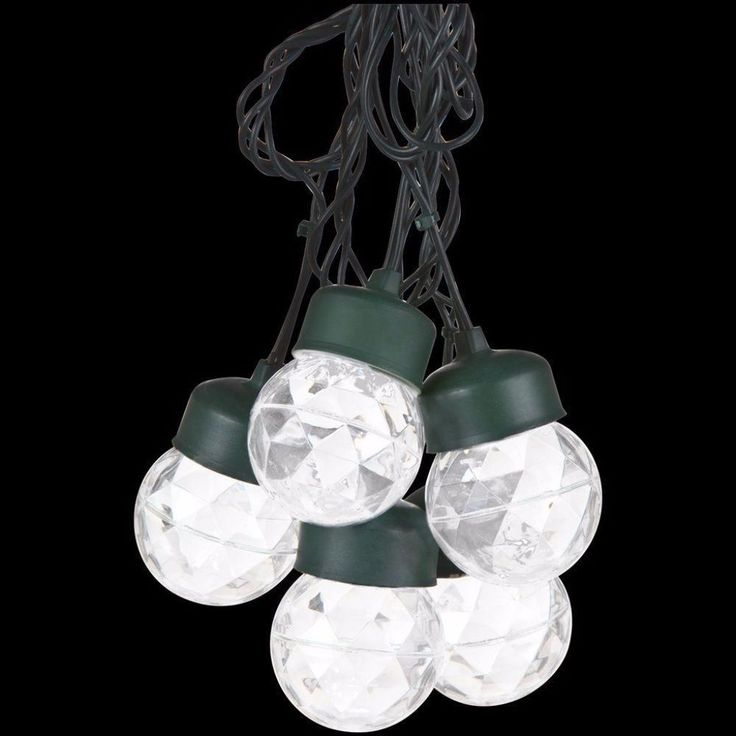 White Projection Round String Lights with Clips Christmas Home Decor 8 Lights #StringLights #String #Lights #White #WhiteProjection #Projection #RoundStringLights #Christmas #ChristmasHomeDecor #HomeDecor #Decor #ChristmasDecor