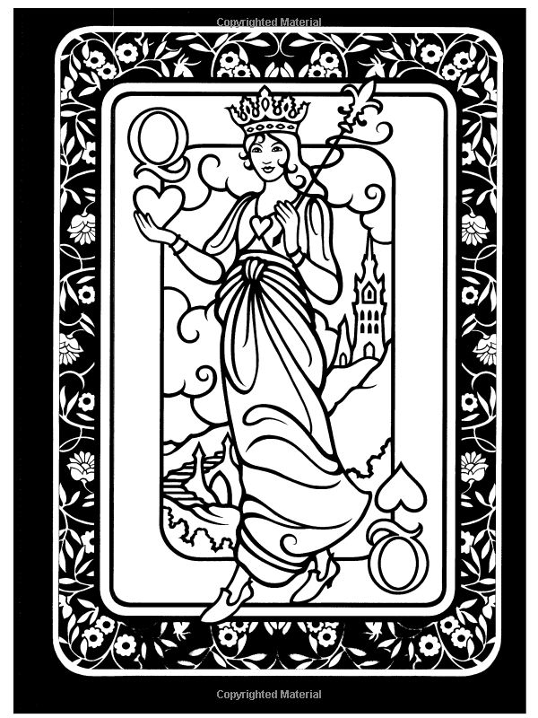17 best images about coloring pages  playing cards  on pinterest dovers  cards and jokers Playing Cards Adult Coloring Pages  Coloring Pages Playing Cards