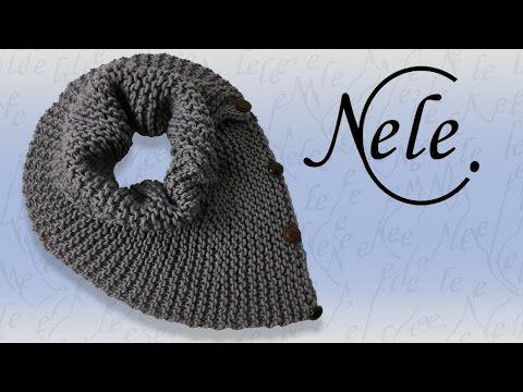 """Loop Schal stricken für Anfänger - Schulter- Halswärmer """"Haso"""", DIY Anleitung by NeleC. - YouTube"""