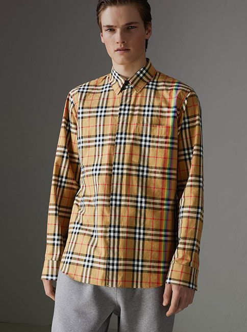 f4237d008c9 A  Burberry cotton shirt in our archive-inspired check from the 1960s