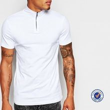 man short sleve v-neck cotton cheap plain white t-shirts wit zip closed neck  best buy follow this link http://shopingayo.space