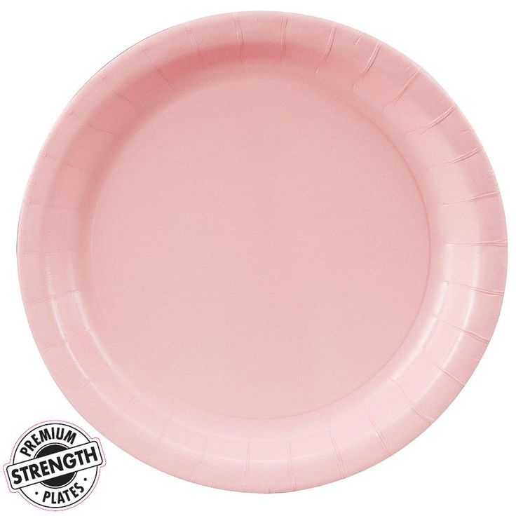 Classic Pink (Light Pink) Dinner Plates from BirthdayExpress.com