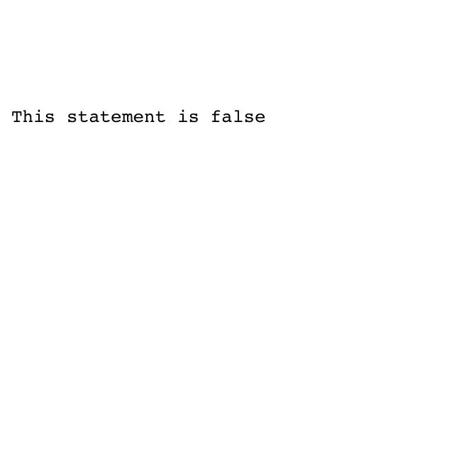 Liars paradox