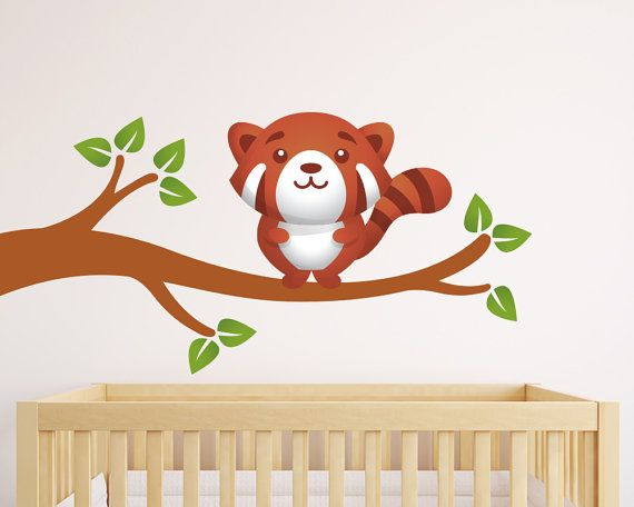 Nursery Wall Decal  Kids Wall Decal  Panda by LullaberryDecals