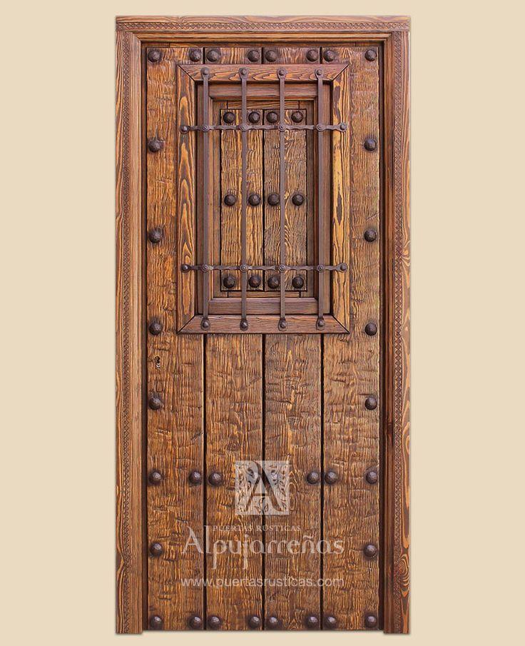 Las 25 mejores ideas sobre puertas de garaje de madera en for Puertas pintadas originales