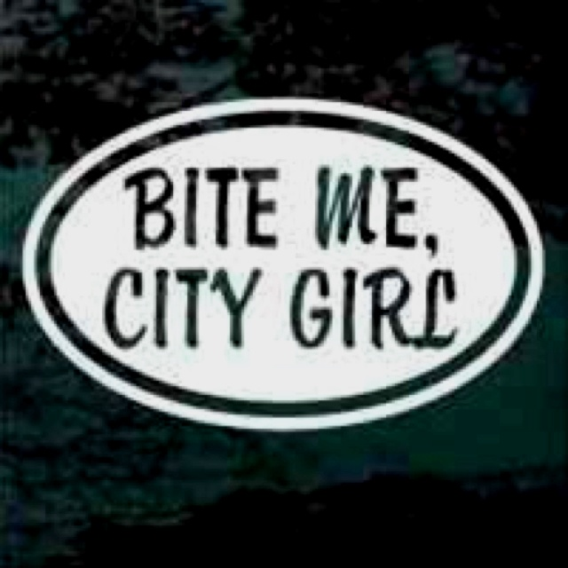 Bite me city girl car decals window stickers and wall decals