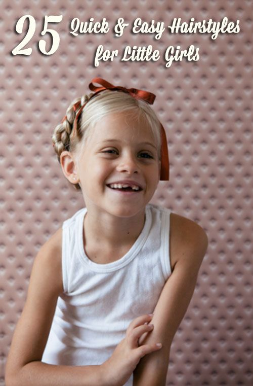 25 Quick & Easy Hairstyles for Little Girls.  @Laura Cartelli, once Emma has some more hair, a lot of these would be adorable on her, and you could totally do it!