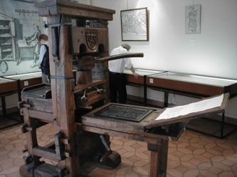 His lender claimed Gutenberg had used the $ for things other than the bible project & demanded ownership of half the printed bibles & control of the print shop. He won.  It became the Fust-Schöffer shop, the first ever shop to mention the printer's name, thus essentially creating the first publisher's imprint. Gutenberg, however, was bankrupt.  he probably started a new print shop he never quite recovered financially, living out his life on a stipend by the Archbishop of Mainz