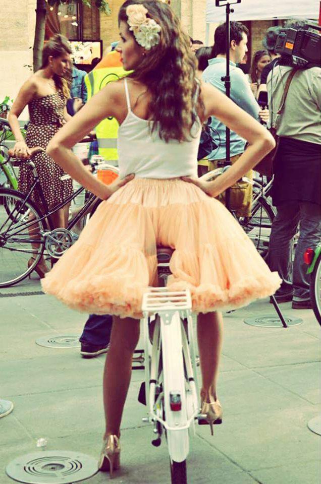 Lady on bike - Budapest