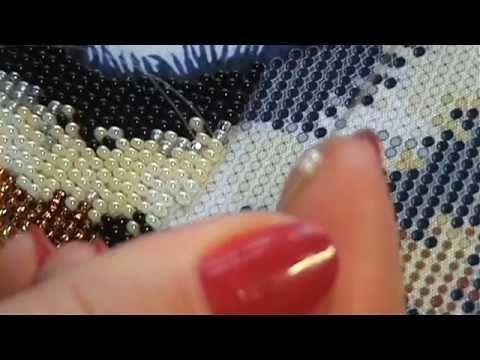 (3) Как вышивать бисером в круговой технике? Моя организация и процесс вышивания. - YouTube