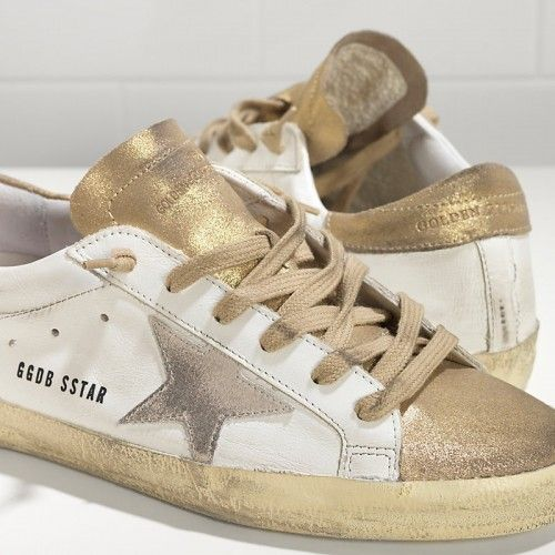 GGDB Super Star Sneakers In Leather With Suede Star WS590W7 - Golden Goose Damen