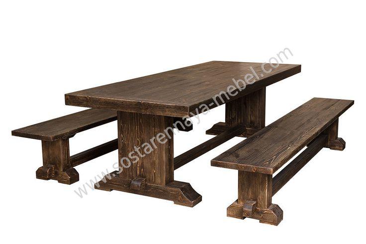 Состаренная мебель для беседки