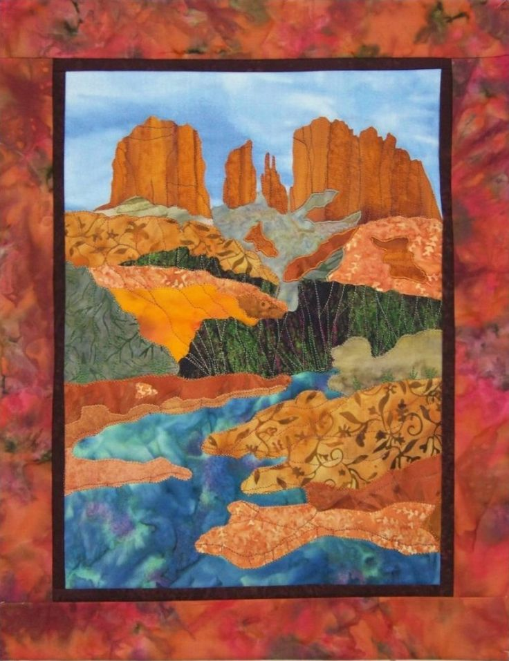 Sedona S Cathedral Rock Quilt Blocks Pinterest Shops