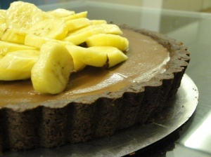 Dorie Greenspan's Double Chocolate and Banana Tart