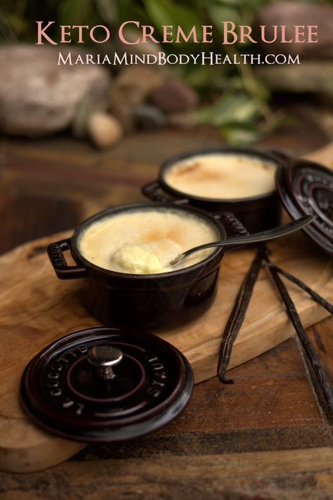 low carb creme brulee, sugar free... made in jars for the lunchbox