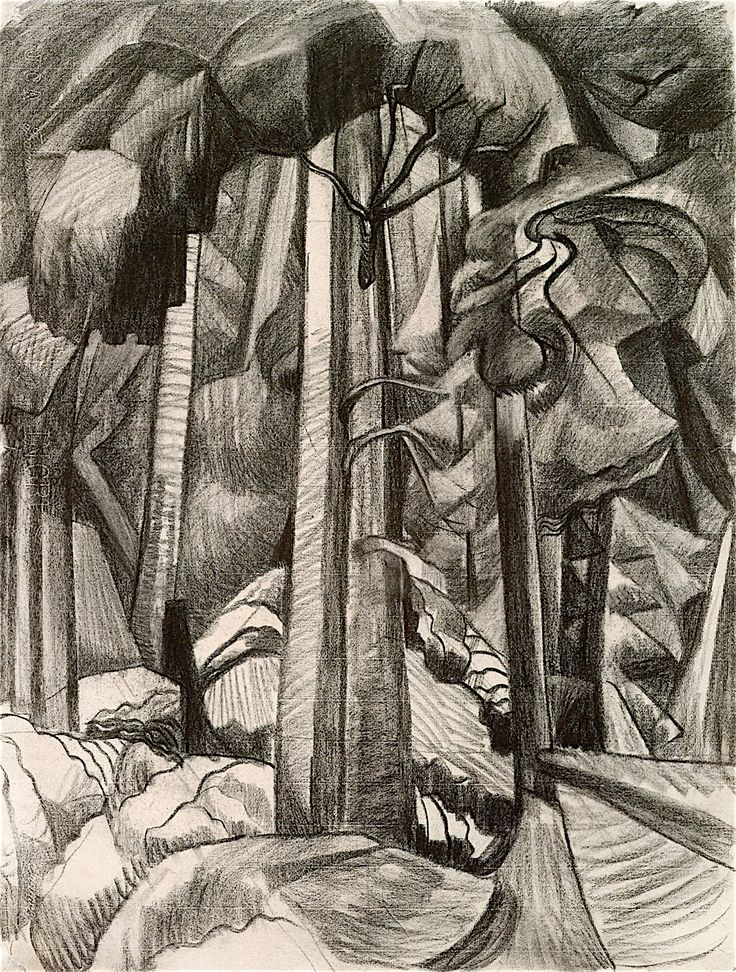 Untitled, 1929. Charcoal. Emily Carr. VAG 2.3.125
