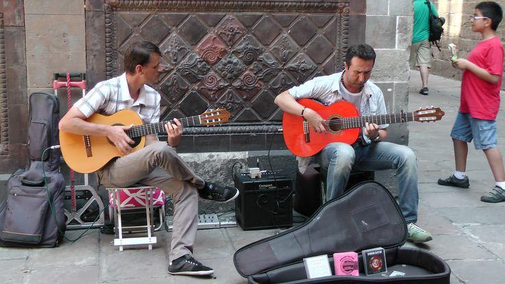 Straat muzikanten in Barcelona