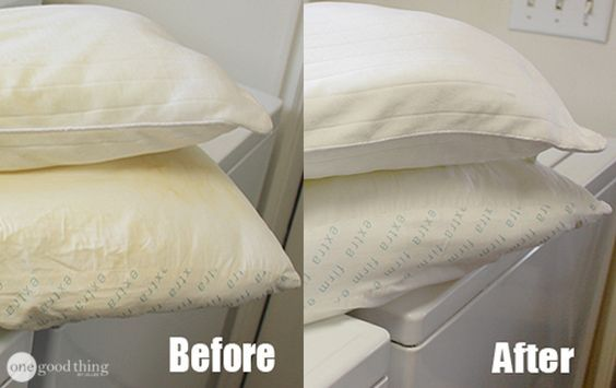 pillow+cleaning+hack