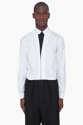 Mugler Black Placket Square Shirt for men | SSENSE