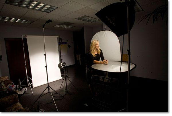 corporate headshot setup
