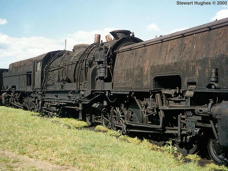 Nswgr Garratt Steam Locomotive Sitting Derelict In A