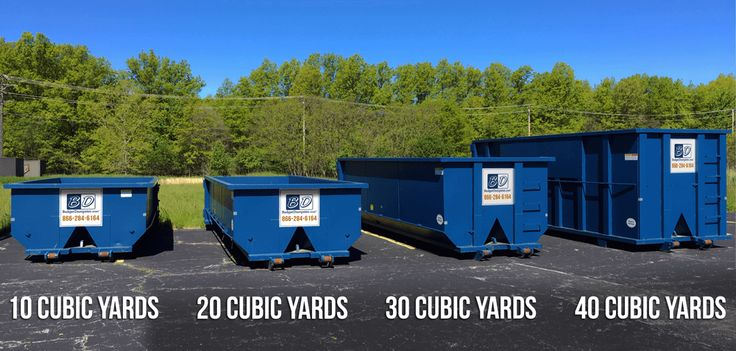 Dumpster Sizes by Cubic Yards