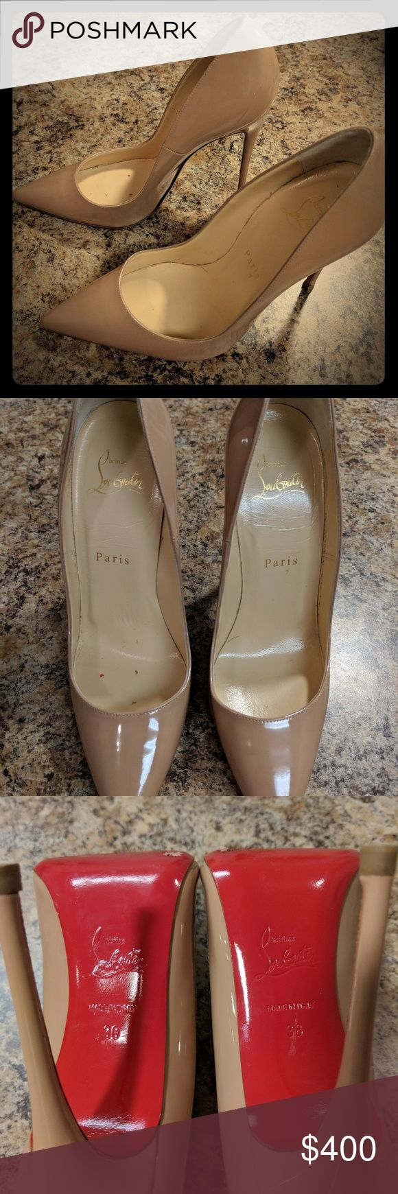 Nude So Kate sz 38 I only wore these a few times, in great shape with the classic red bottoms still looking good. The nude color goes with everything! These will be great for holiday parties and New Years! I don't have the box or dust bag, price reflects that. Christian Louboutin Shoes Heels