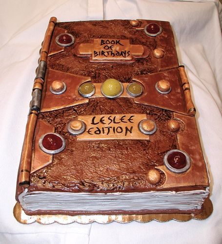 Birthday Book Cake - Love the copper feel of frosting! by snarkygurl, via Flickr