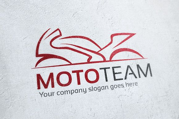 Moto Team Motorcycle Logo ~ Logo Templates on Creative Market