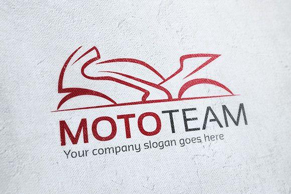 Moto Team Motorcycle Logo ~ Logo Templates on Creative Market
