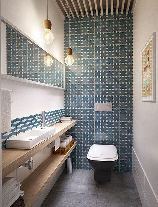 Salón, comedor y cocina integrados en un solo espacio: aseo de visitas