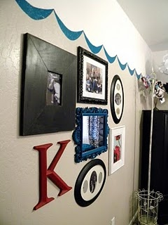 frames and a large bright letter!