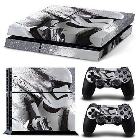 PS4 Playstation 4 Console Decal Vinyl Autocollant Skin Sticker Star Wars Stormtrooper Battlefront + 2 Autocollant Manette Set