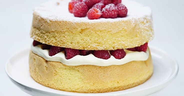 This luscious sponge cake is easy to whip up for any family occasion.