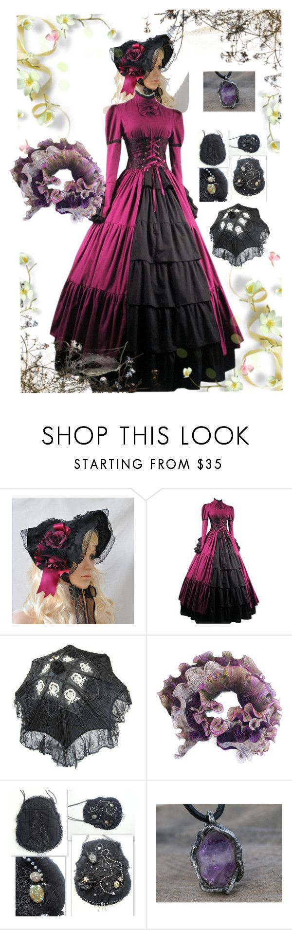 """magenta -dark purple"" by black-passion ❤ liked on Polyvore featuring Anne Selby and Rustico"