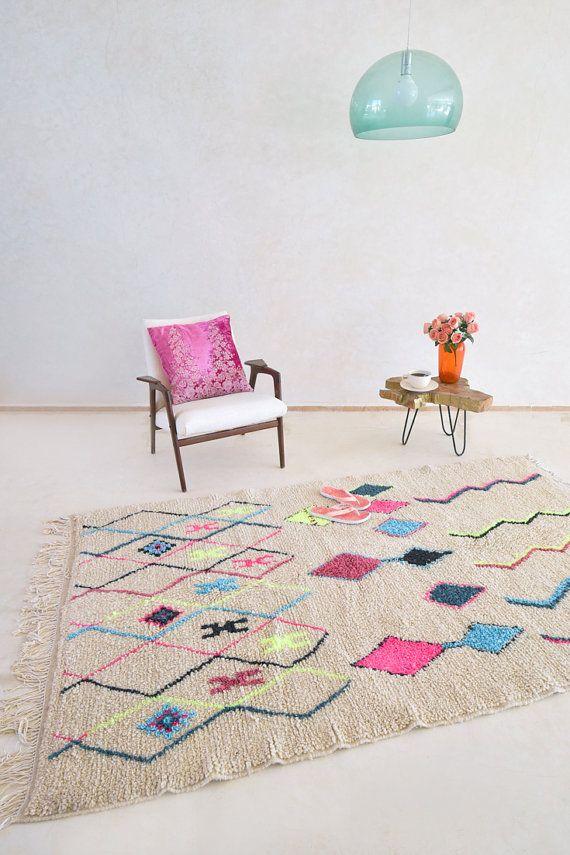 AZILAL. 7 ' 9 x 4'9 tappeto marocchino di theboucherouiteshop