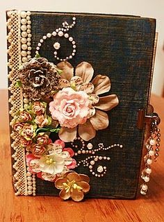 A Creative Operation: Altered Books - add fun sparkle and glam to