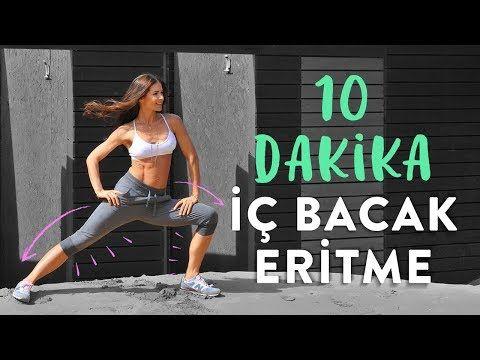 10 Dakikada İç Bacak Eritme - YouTube