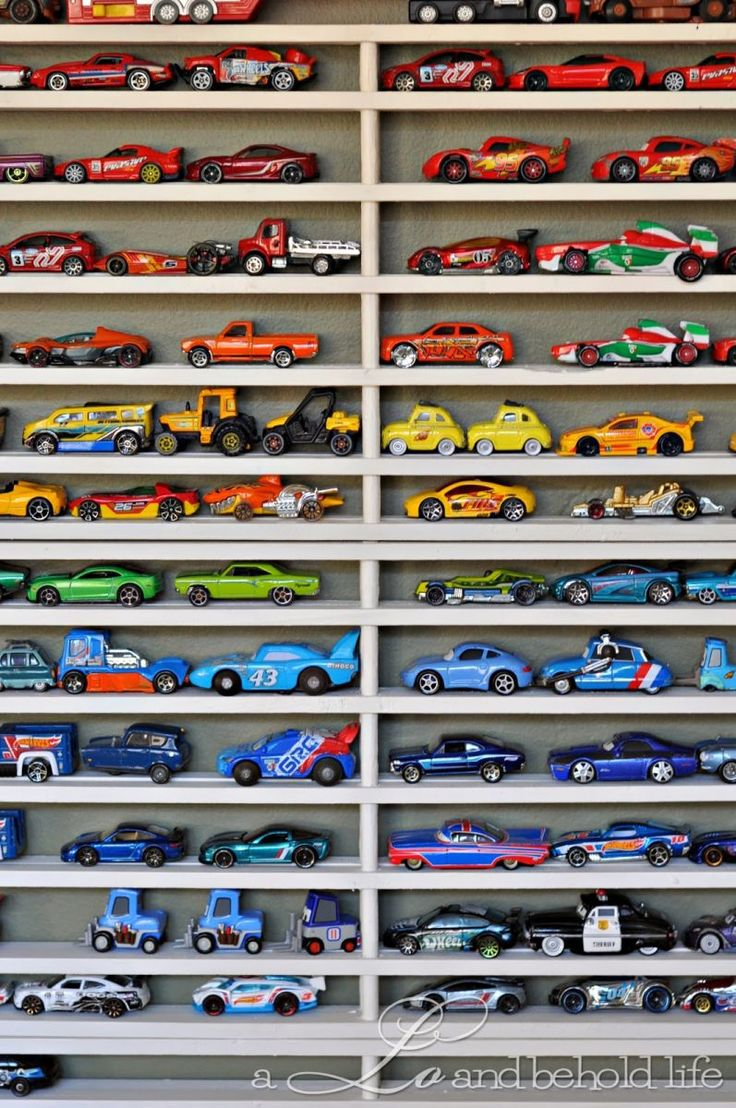 Lot of new cars coming in at moment looking to make some room have a - Keep Your Little Speedster S Favorite Hot Wheels Cars Organized And Ready For Hours Of Play With This Simple Diy Storage Solution That S Perfect For His