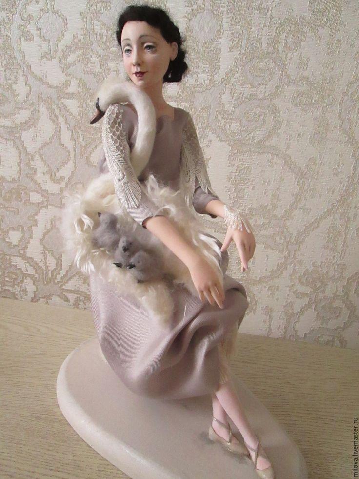 Купить Кукла Анна Павлова с лебедем - анна павлова, балет, балерина, русский балет, лебедь