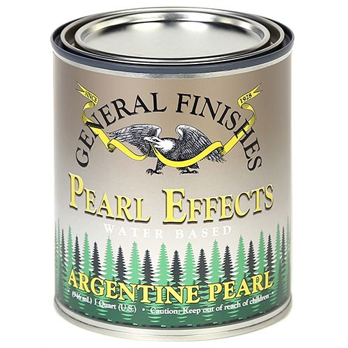 General Finishes Water Based Pearl Effects Argentine