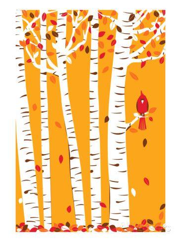 Autumn Cardinal Juliste tekijänä strawberryluna AllPosters.fi-sivustossa
