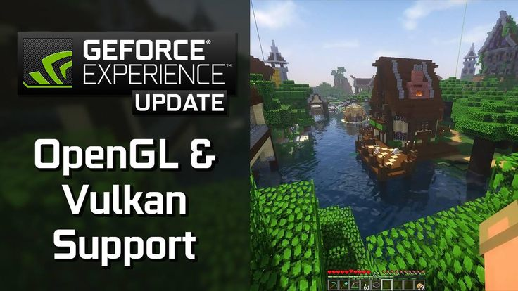 GeForce Experience 3.6 is here, bringing support for recording and broadcasting games with OpenGL and Vulkan like Minecraft and DOOM. #bitLife