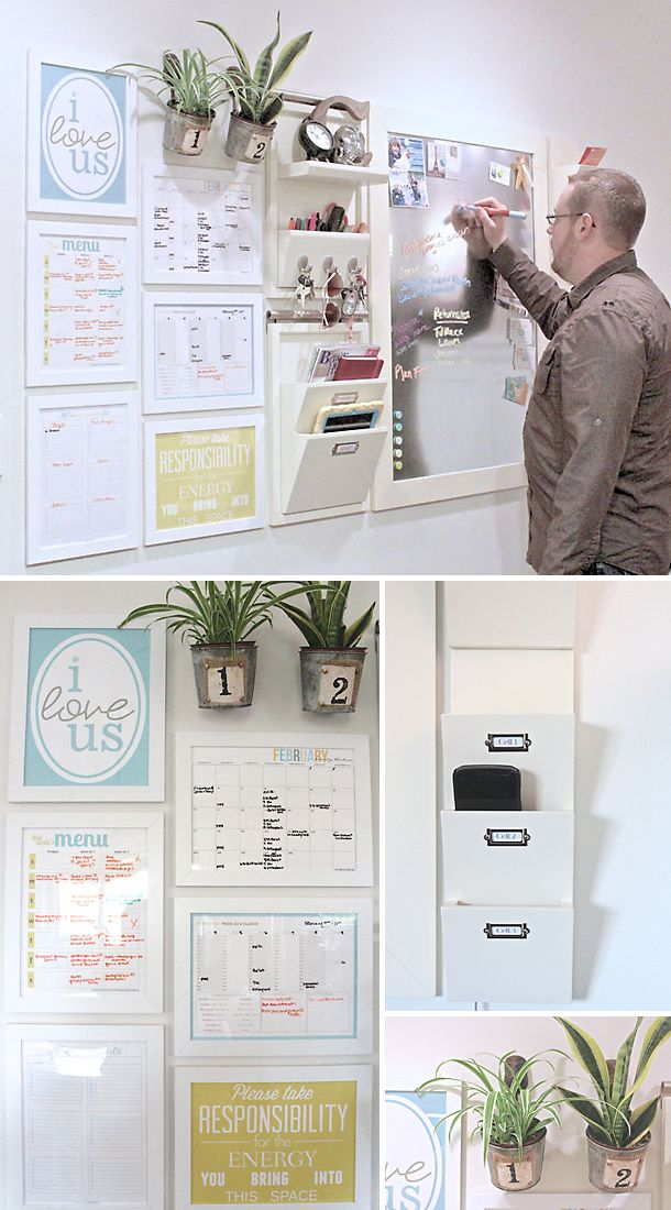 DIY Message Center Projects • Awesome ideas and Tutorials! Including, from 'the caldwell project', this wonderful diy command center.