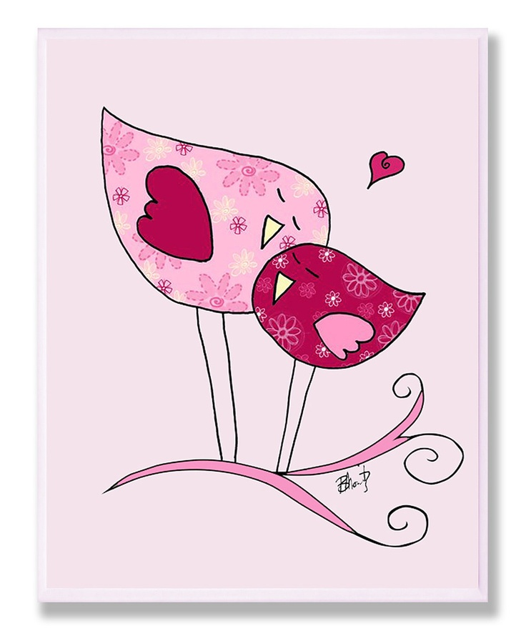 Chickadees in Love Wall Art would be a cute aplique