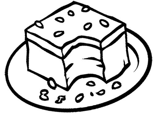 chocolate brownie coloring pages - photo#1