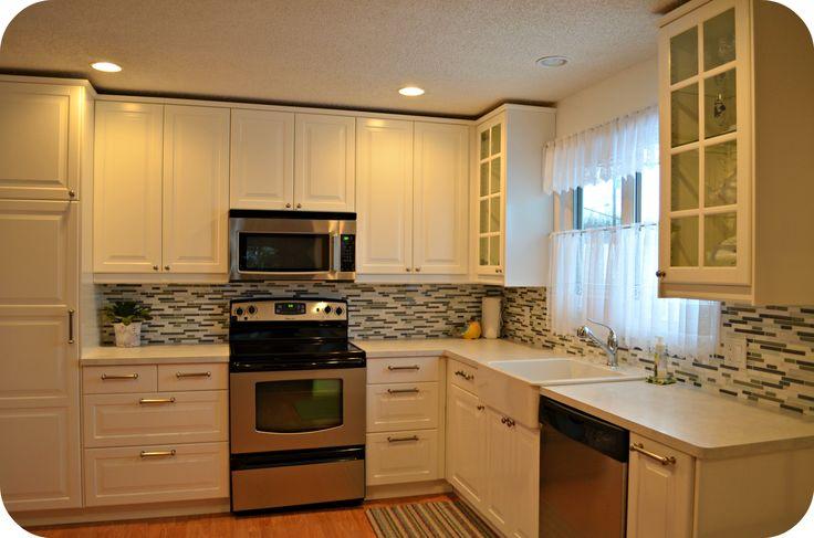 White ikea kitchen smaller kitchen reno pinterest for How good are ikea kitchen cabinets